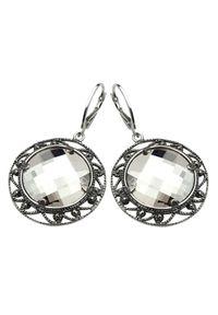 Polcarat Design - Kolczyki srebro Swarovski K 980. Materiał: srebrne. Wzór: aplikacja. Kamień szlachetny: kryształ
