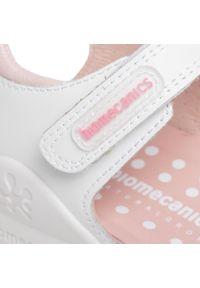 Białe sandały Biomecanics z aplikacjami, casualowe, na co dzień