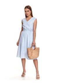 Biała sukienka TOP SECRET koszulowa, midi