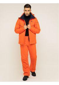 Czerwona kurtka sportowa salomon narciarska
