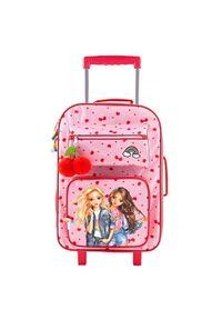 Różowa walizka Top Model w kolorowe wzory