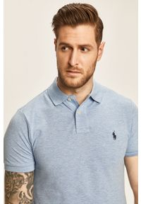 Niebieska koszulka polo Polo Ralph Lauren casualowa, polo, na co dzień