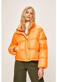 Pomarańczowa kurtka After Label bez kaptura