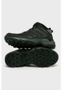 Czarne buty trekkingowe adidas Performance na sznurówki, Adidas Terrex, z cholewką