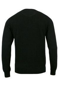 Czarny sweter Adriano Guinari do pracy, klasyczny