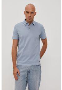 Niebieska koszulka polo Tom Tailor casualowa, krótka, na co dzień