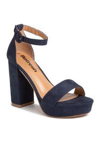 Niebieskie sandały Refresh na co dzień, casualowe