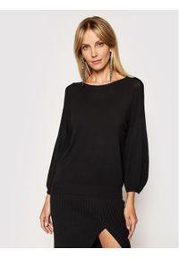Kontatto Sweter 3M7207 Czarny Regular Fit. Kolor: czarny
