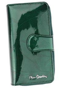 Portfel damski Pierre Cardin 02 LEAF 116 ZIELONY. Kolor: zielony. Materiał: skóra. Wzór: aplikacja