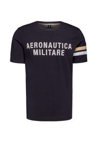 Aeronautica Militare - T-shirt AERONAUTICA MILITARE. Materiał: bawełna, elastan. Wzór: haft, paski, aplikacja