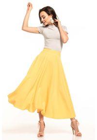Żółta spódnica rozkloszowana Tessita