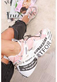 Różowe buty sportowe IVET z napisami