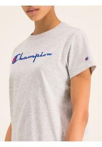 Champion T-Shirt Script Logo 110992 Szary Regular Fit. Kolor: szary
