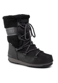 Czarne śniegowce Moon Boot na zimę, z cholewką