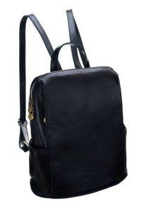 Plecak w stylu vintage granatowy Badura T_D187GR_CD. Kolor: niebieski. Materiał: skóra. Styl: vintage #1