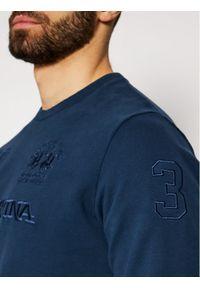 La Martina Bluza RMF303 FP059 Granatowy Regular Fit. Kolor: niebieski