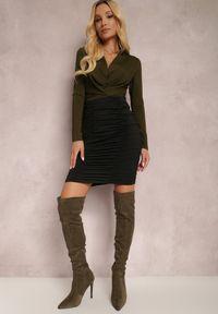 Renee - Czarna Spódnica Cilothee. Kolor: czarny. Materiał: dzianina, guma