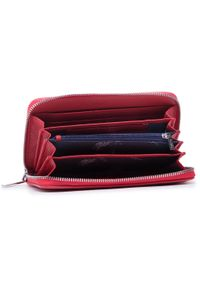U.S. Polo Assn - Duży Portfel Damski U.S. POLO ASSN. - New Hailey L Zip Ard Wall BEUHF5162WVP400 Red. Kolor: czerwony. Materiał: skóra