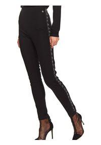 Czarne legginsy TOP SECRET z aplikacjami