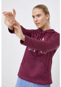 adidas Performance - Bluza. Kolor: fioletowy. Materiał: materiał. Długość rękawa: długi rękaw. Długość: długie. Wzór: nadruk