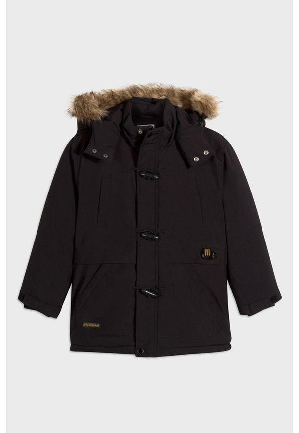 Czarna kurtka Mayoral na co dzień, casualowa, z kapturem