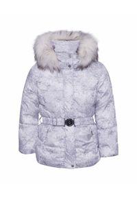 Biała kurtka narciarska Poivre Blanc z nadrukiem, młodzieżowa
