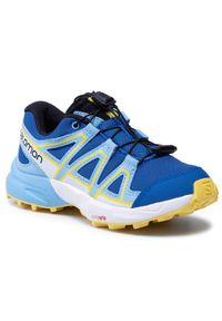 salomon - Buty SALOMON - Speedcross J 412885 09 M0 Turkish Sea/Little Boy Blue/Lemon Zest. Kolor: niebieski. Materiał: materiał. Szerokość cholewki: normalna. Obcas: na płaskiej podeszwie