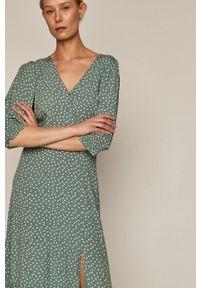 medicine - Medicine - Sukienka Summer Linen. Okazja: na co dzień. Kolor: turkusowy. Typ sukienki: proste. Styl: casual