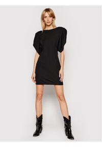 TwinSet Sukienka koktajlowa 211MT2610 Czarny Regular Fit. Kolor: czarny. Styl: wizytowy