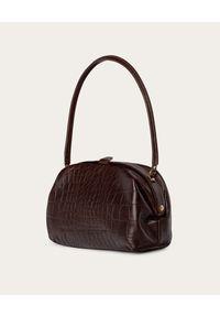 BALAGAN - Brązowa torba w zwierzęcy wzór Hug. Kolor: brązowy. Wzór: motyw zwierzęcy. Materiał: z tłoczeniem. Styl: vintage, casual
