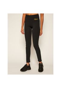 Czarne legginsy sportowe Moschino Underwear & Swim
