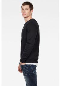 Czarna bluza nierozpinana G-Star RAW z okrągłym kołnierzem