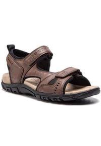 Geox Sandały U S.Strada A U4224A 000ME C6009 Brązowy. Kolor: brązowy