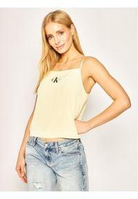 Calvin Klein Jeans Top Camisole J20J213049 Żółty Regular Fit. Kolor: żółty