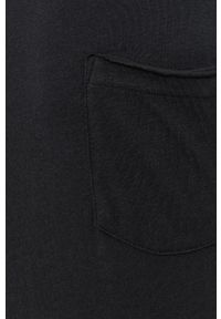 !SOLID - T-shirt bawełniany. Okazja: na co dzień. Kolor: czarny. Materiał: bawełna. Wzór: gładki. Styl: casual