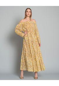 ON THE ISLAND - Sukienka w kwiatowy wzór. Okazja: na co dzień. Kolor: żółty. Materiał: materiał. Wzór: kwiaty. Typ sukienki: proste. Styl: wakacyjny, elegancki, casual