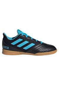 Adidas - Buty dla dzieci do piłki nożnej adidas Predator 19.4 IN G25830. Materiał: skóra, syntetyk. Szerokość cholewki: normalna. Sport: piłka nożna