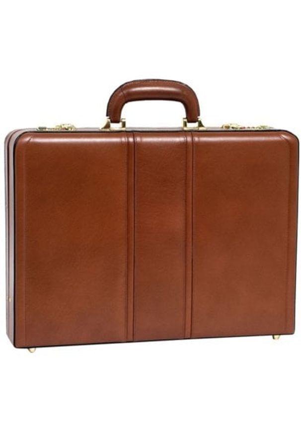 Neseser na laptopa MCKLEIN Daley 80434 Brązowy. Kolor: brązowy. Materiał: skóra. Wzór: aplikacja. Styl: klasyczny, retro