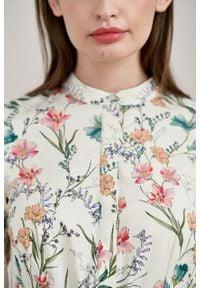 Marie Zélie - Sukienka Aglaia Asarina. Typ kołnierza: kołnierzyk stójkowy. Materiał: elastan, bawełna. Wzór: kwiaty
