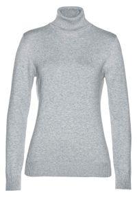 Szary sweter bonprix z długim rękawem, melanż