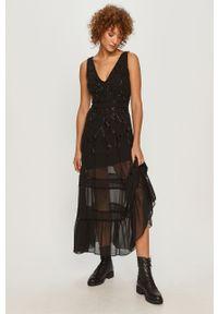 Czarna sukienka TwinSet rozkloszowana, bez rękawów