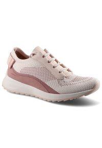 Tamaris - Sneakersy TAMARIS 1-23725-24 596 Rose Comb. Okazja: na co dzień, na spacer. Materiał: materiał. Szerokość cholewki: normalna. Wzór: napisy, aplikacja. Sport: turystyka piesza