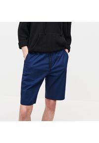 Reserved - Szorty z elastycznym pasem - Niebieski. Kolor: niebieski