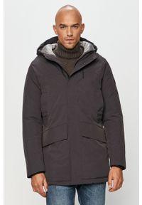 Szara kurtka Premium by Jack&Jones na co dzień, casualowa, z kapturem
