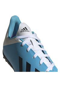Adidas - Buty dla dzieci do piłki nożnej adidas X 19.4 TF F35347. Materiał: skóra, materiał, syntetyk. Szerokość cholewki: normalna. Sport: piłka nożna