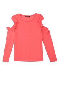 Czerwony sweter TOP SECRET na jesień, elegancki, na co dzień