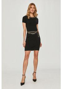Czarna sukienka Elisabetta Franchi gładkie, dopasowana #5