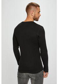 Czarna koszulka z długim rękawem Tommy Jeans casualowa, na co dzień