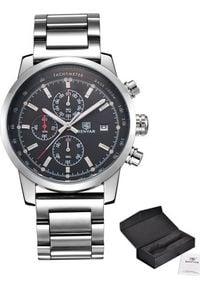 Zegarek BENYAR Steel srebrno-czarny (7817601). Kolor: czarny, srebrny, wielokolorowy