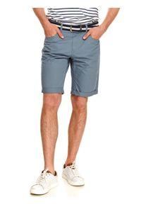 Niebieskie szorty TOP SECRET klasyczne, w kolorowe wzory